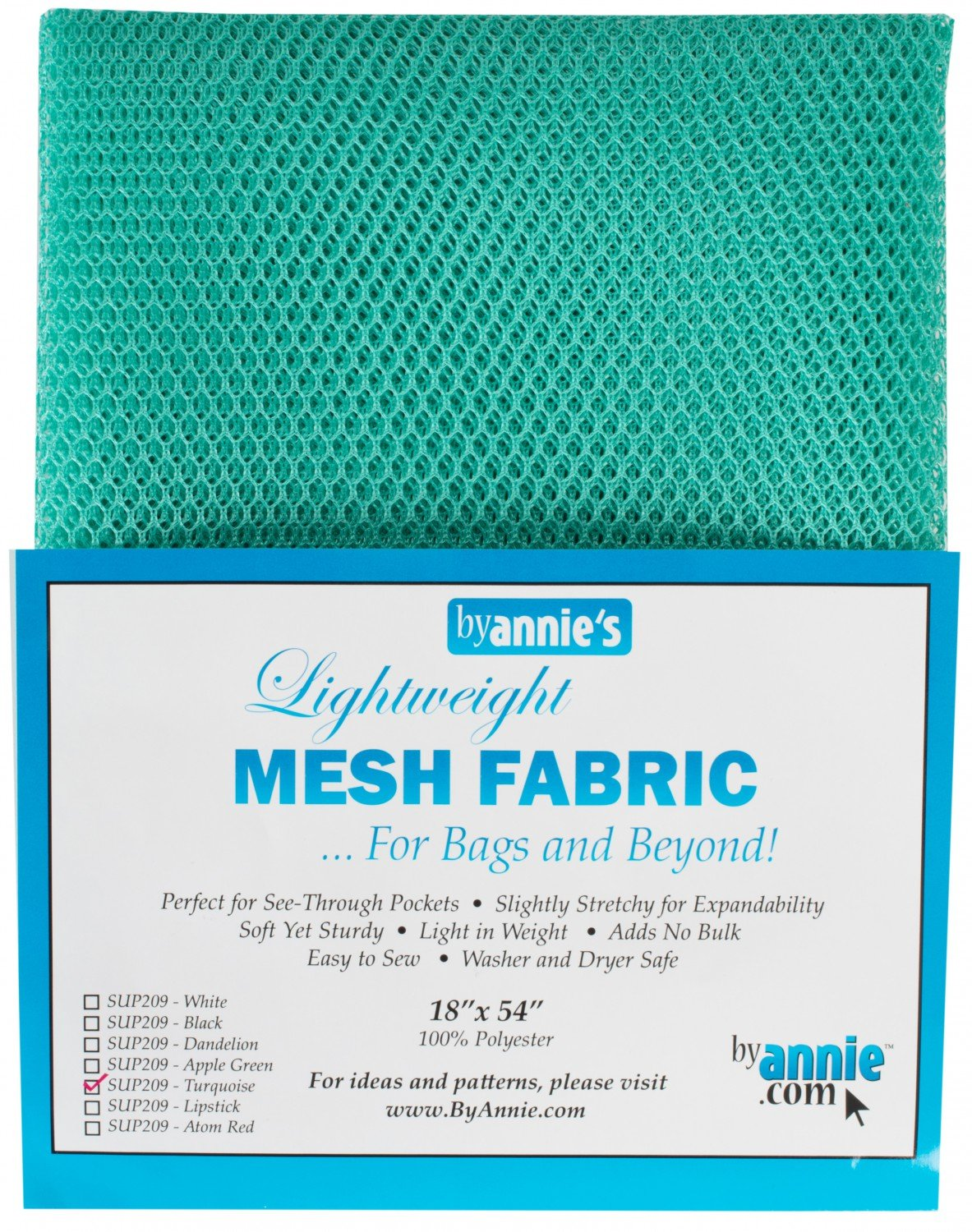 Mesh Lite Weight Turquoise - 18x54in