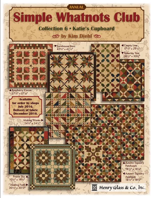 Simple Whatnots 6 by Kim Diehl - Full Set of 8 Quilt Kits