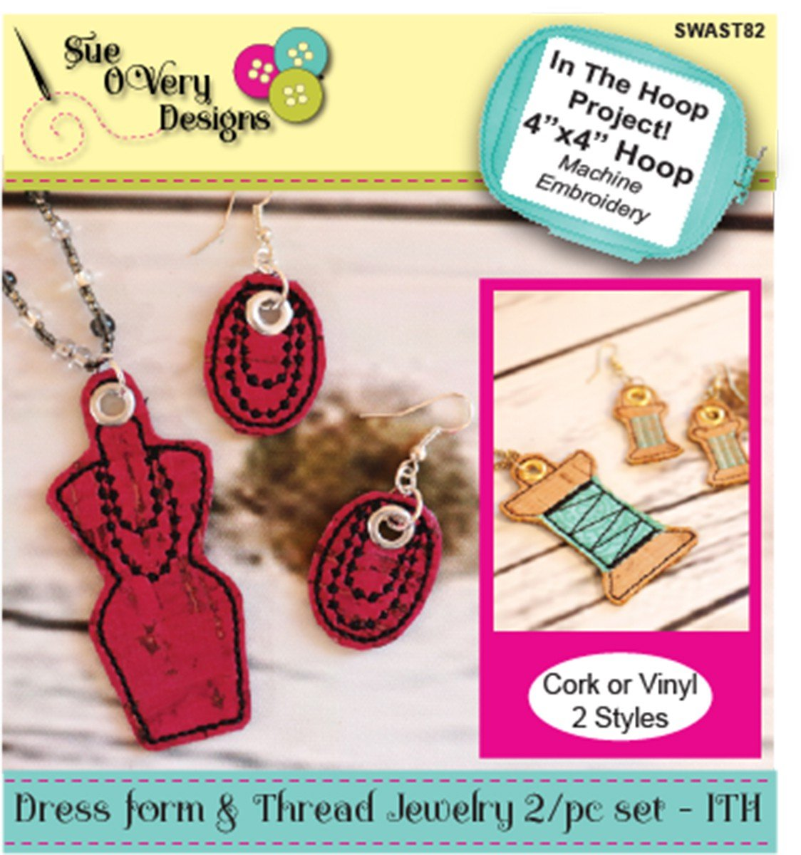 Dress form and Thread Jewerly 2pc Set - ITH