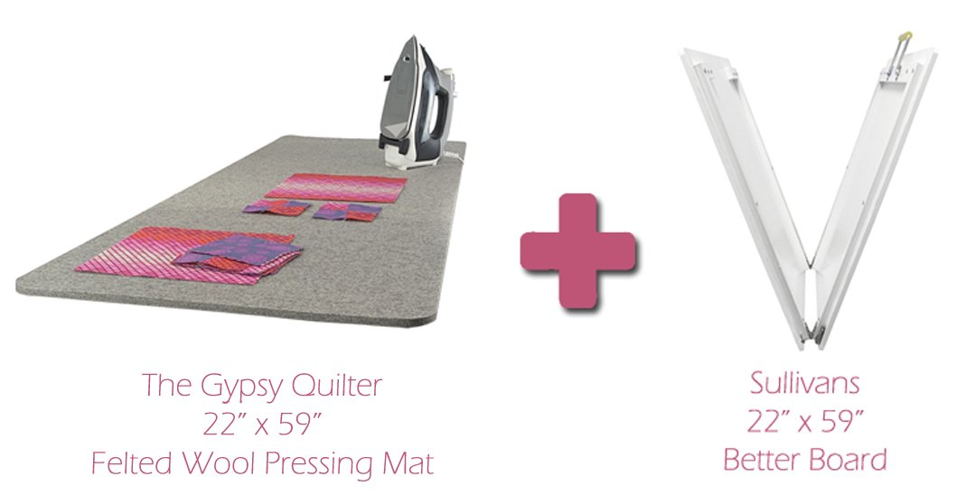 The Gypsy Quilter Felted Wool Pressing Mat and Sullivans Better Board Combo