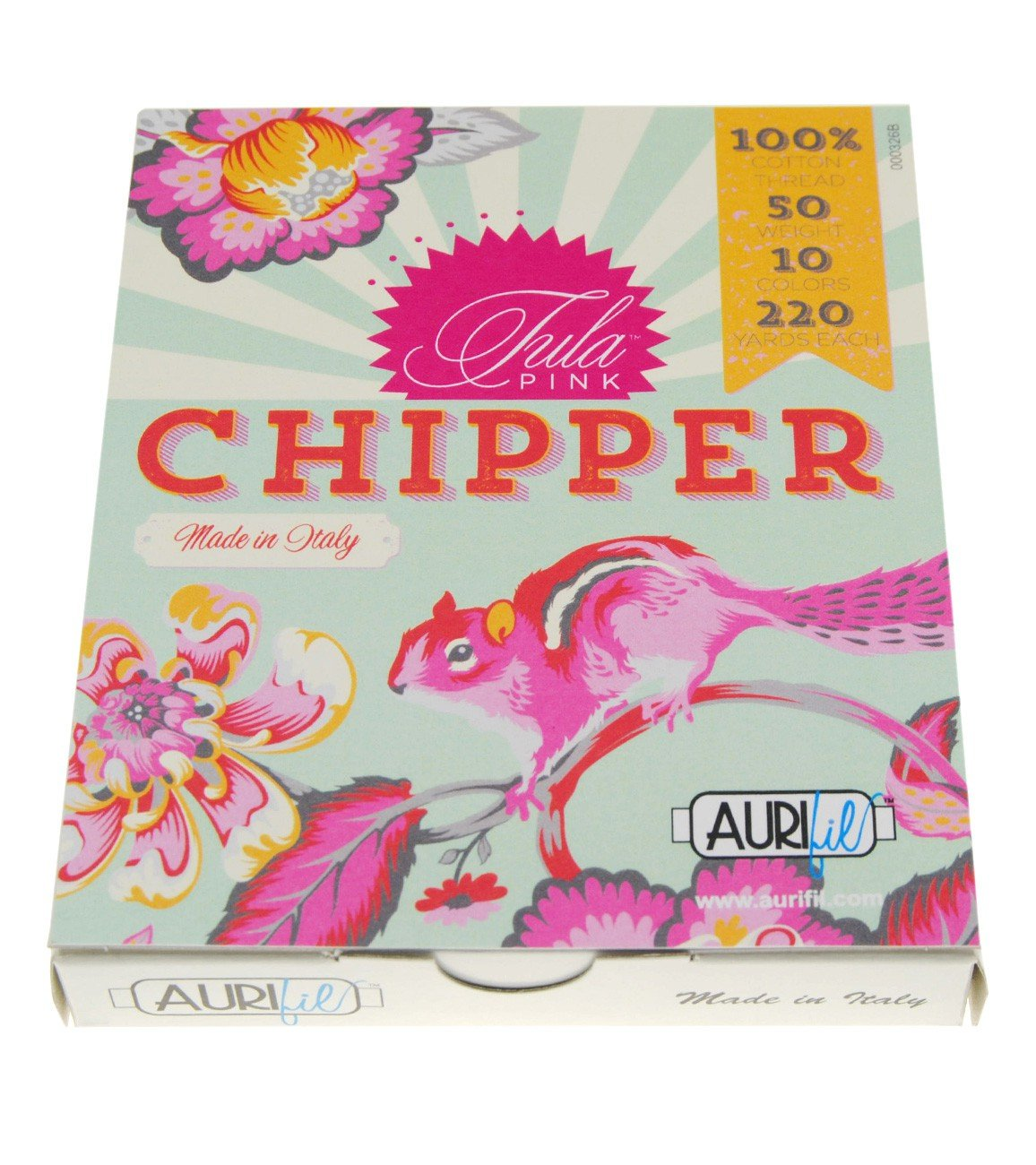 Chipper Collection By Tula Pink 10 Small Spools Cotton 50wt