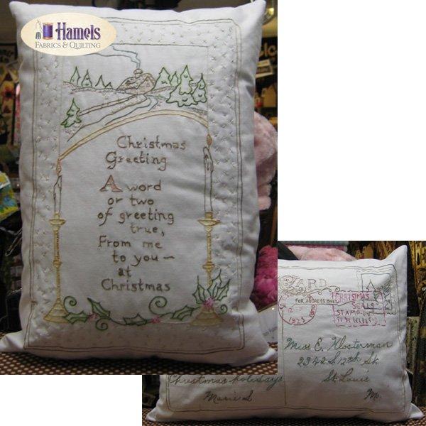 Vintage Christmas Postcard Pillow Kit