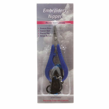 5in Spring-Loaded Embroidery Nipper With Lanyard