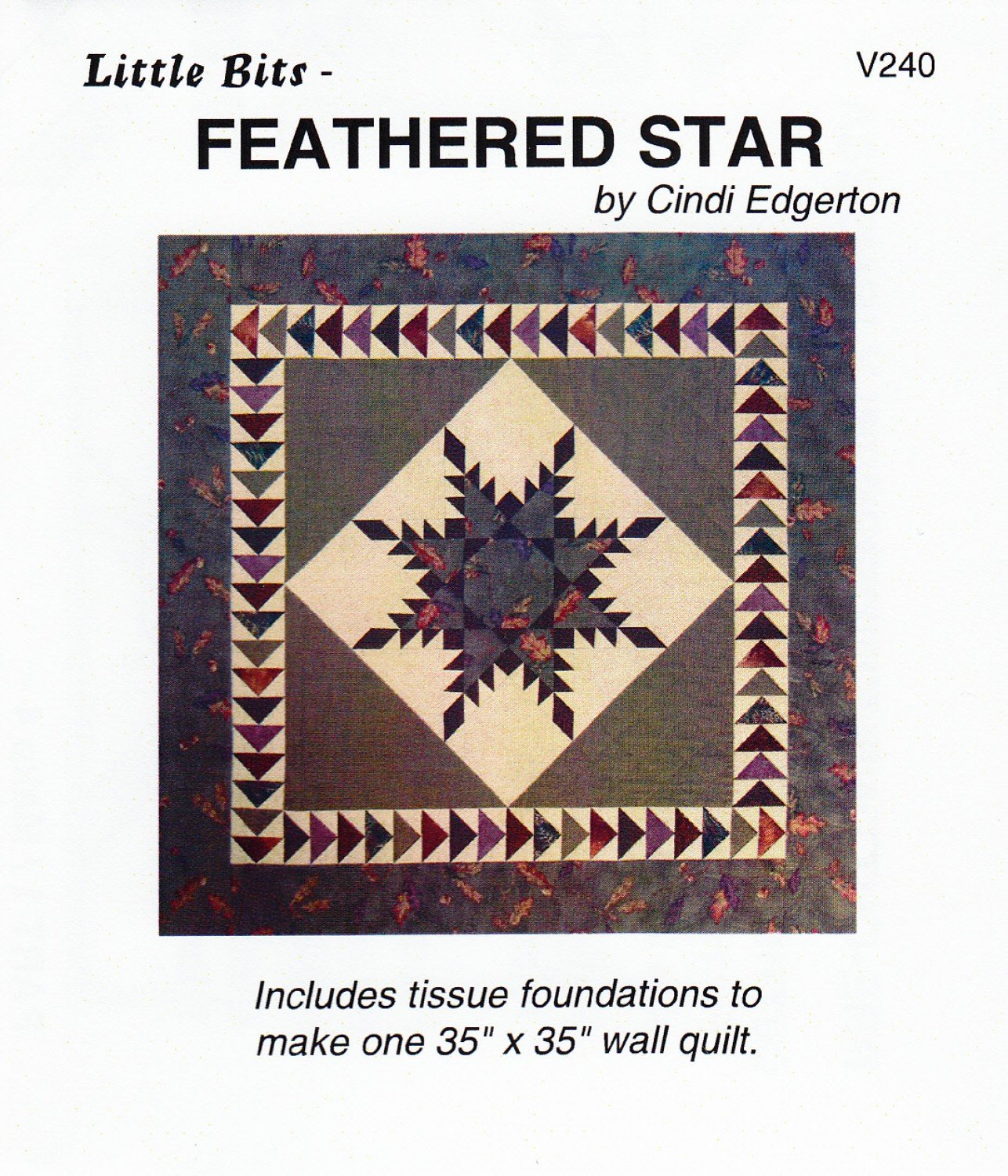 Little Bits Feathered Star