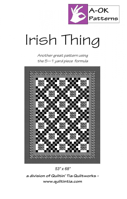 Irish Thing A Ok 5 Yard Pattern