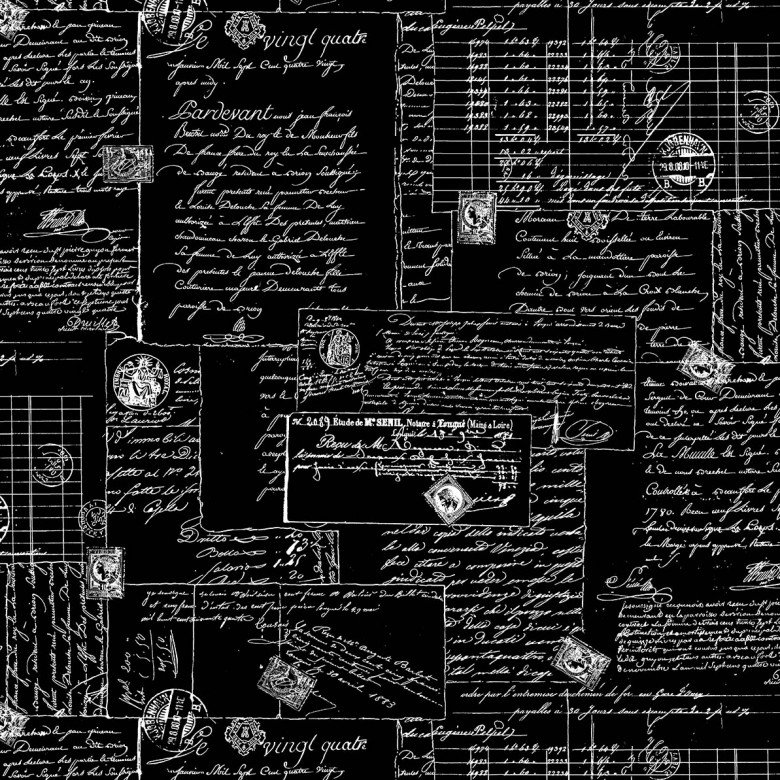108in Wide Back - Post Script - black