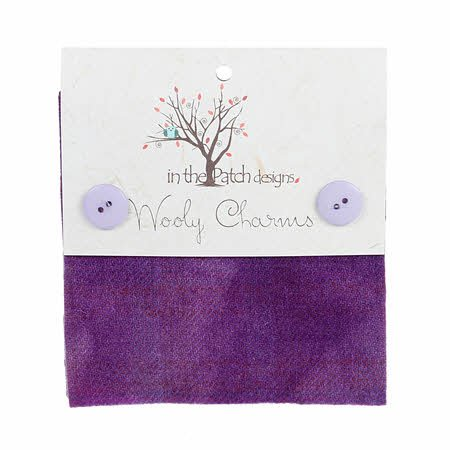 Wooly Charms 5in X 5in Lavendar 5ct