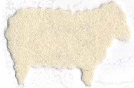 Wool Felt 100% Virgin Natural 36 x 36