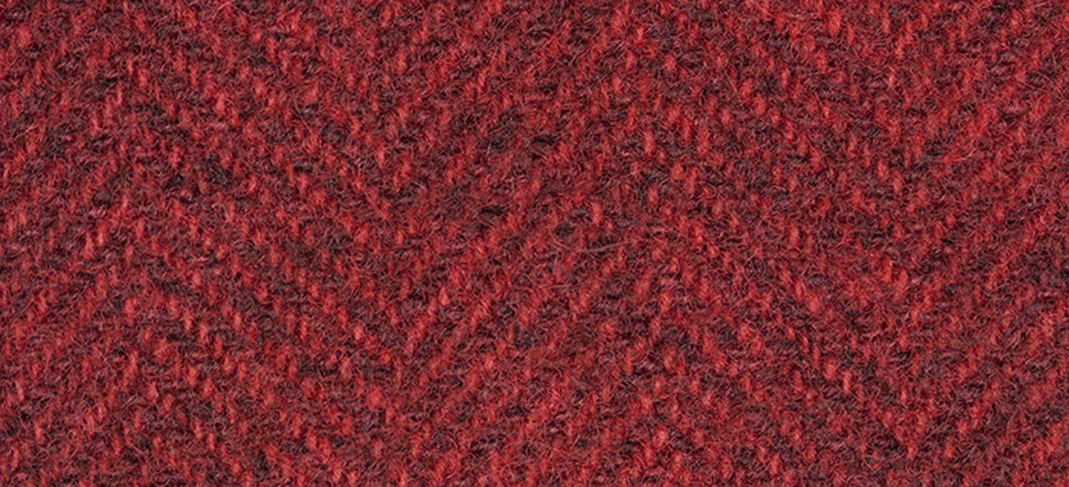 Wool Fat Quarter Herringbone Merlot