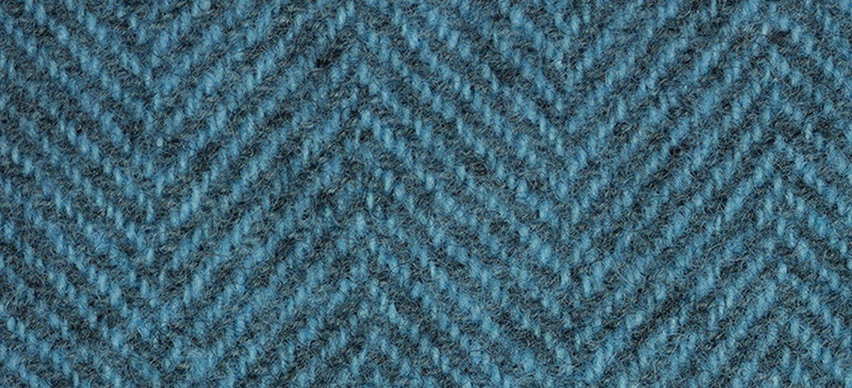 Wool Fat Quarter Herringbone Blue Topaz