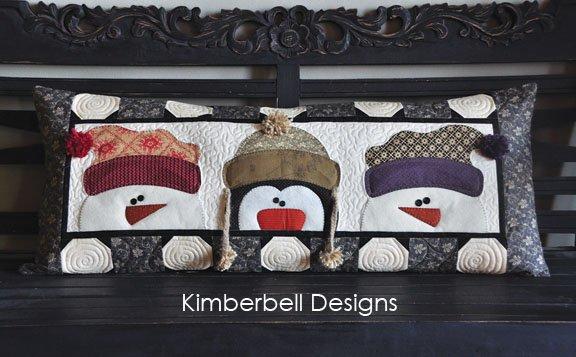 Kimberbell  - Whimsy Winter Bench Pillow Kit