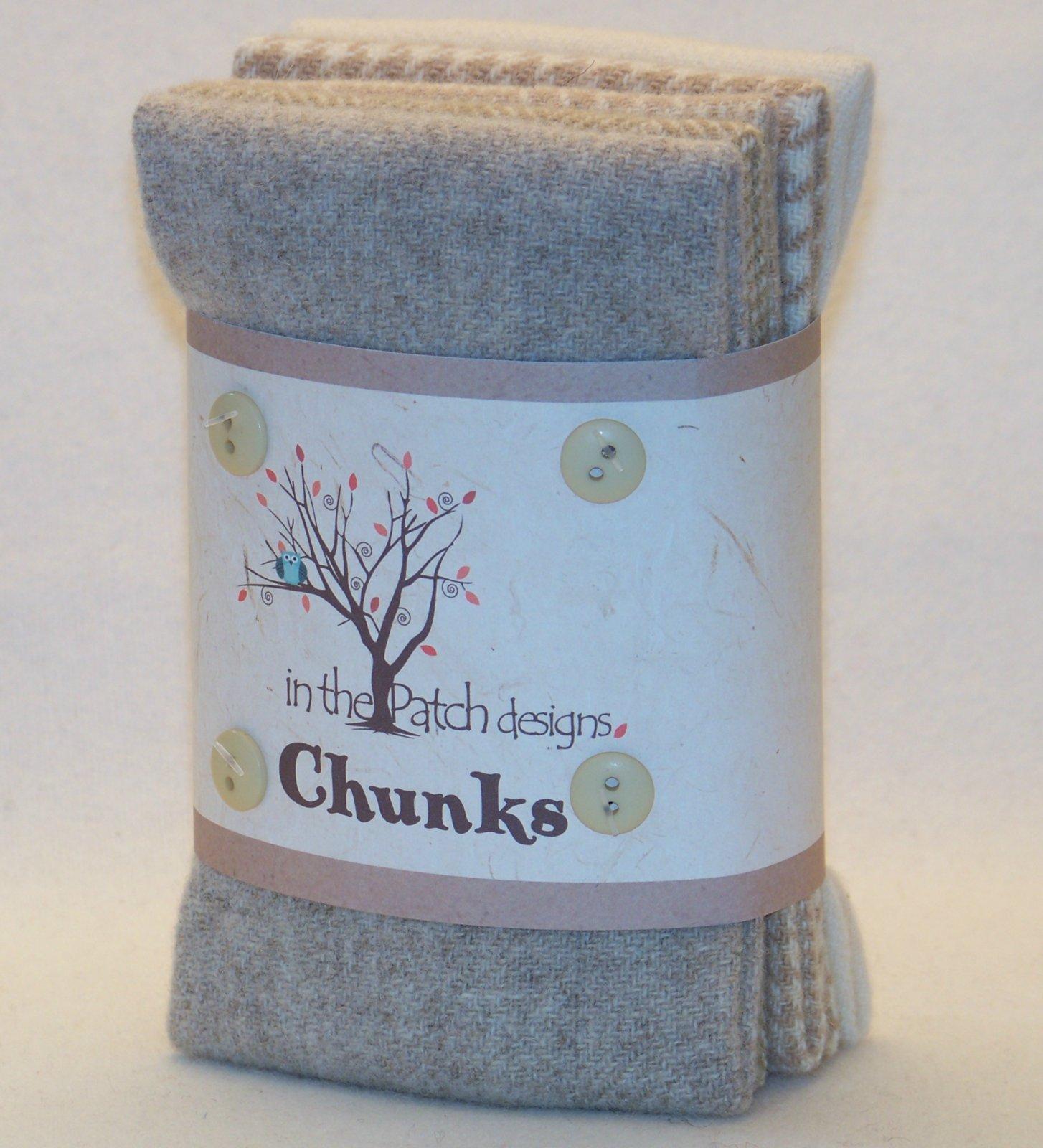 Chunks - Felted Tans - 9 x 10 5 pcs