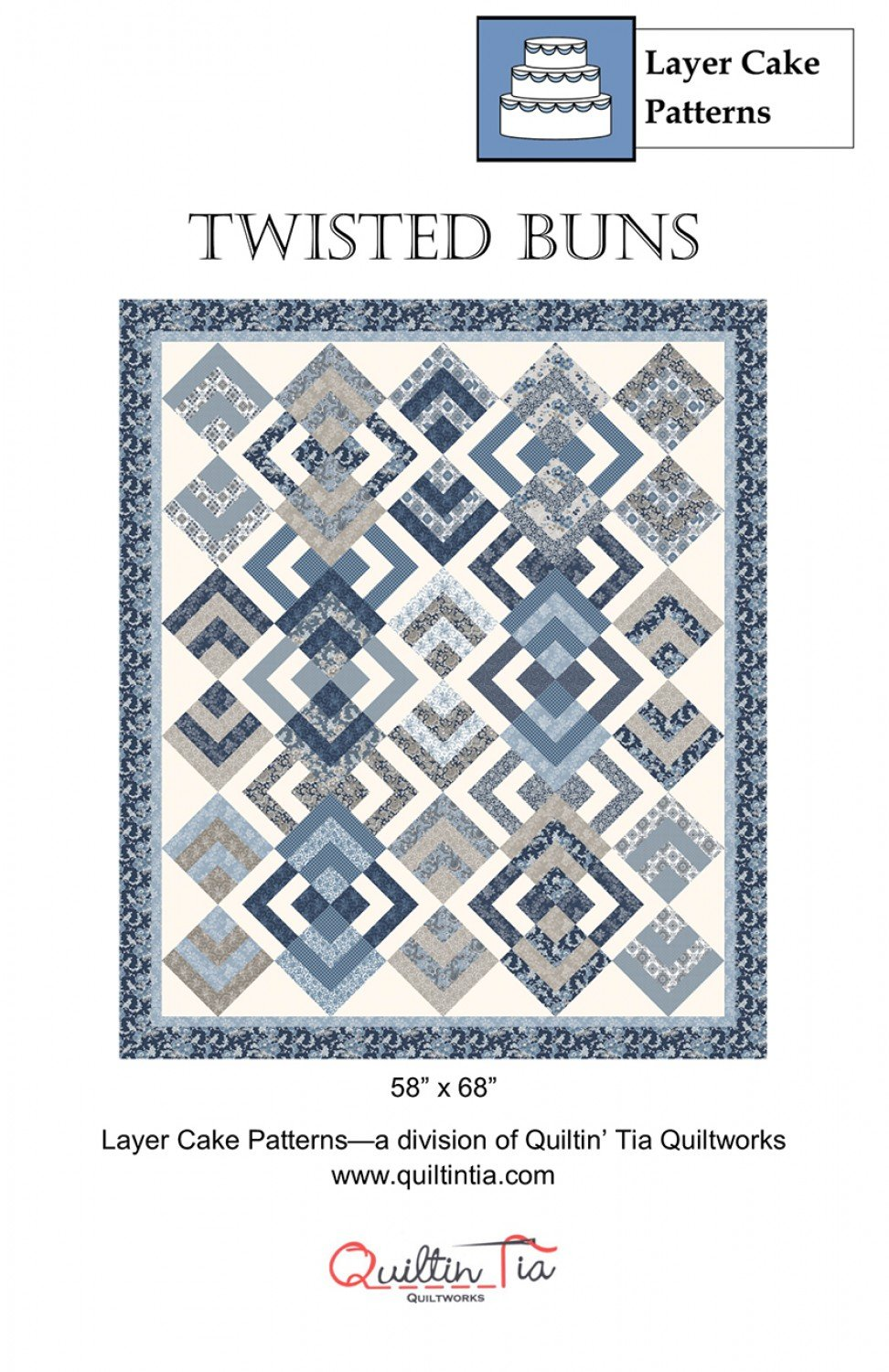 Twisted Buns 10in Square Quilt Pattern