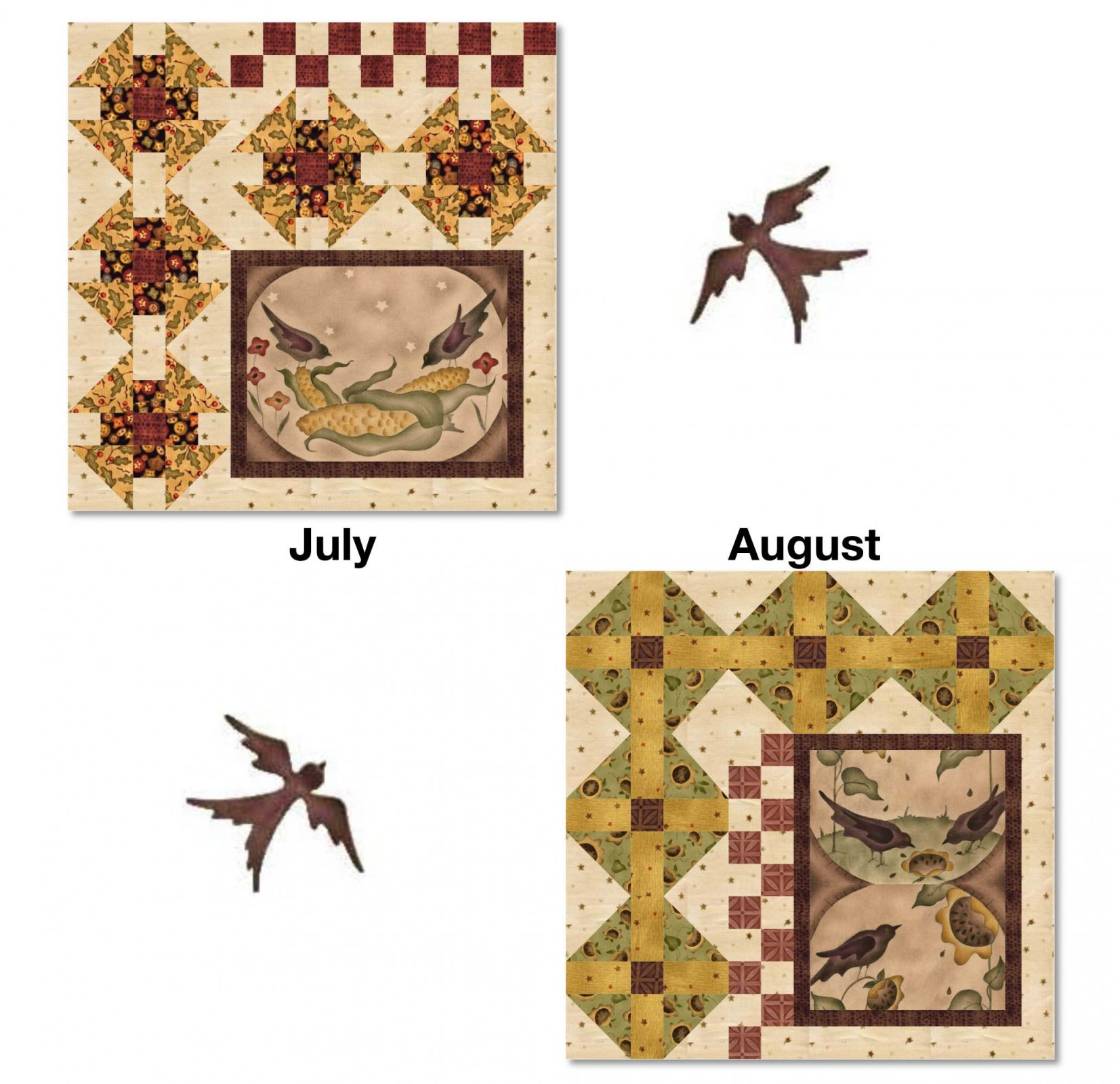 A Year To Crow About Block of The Month Block 4 July/August