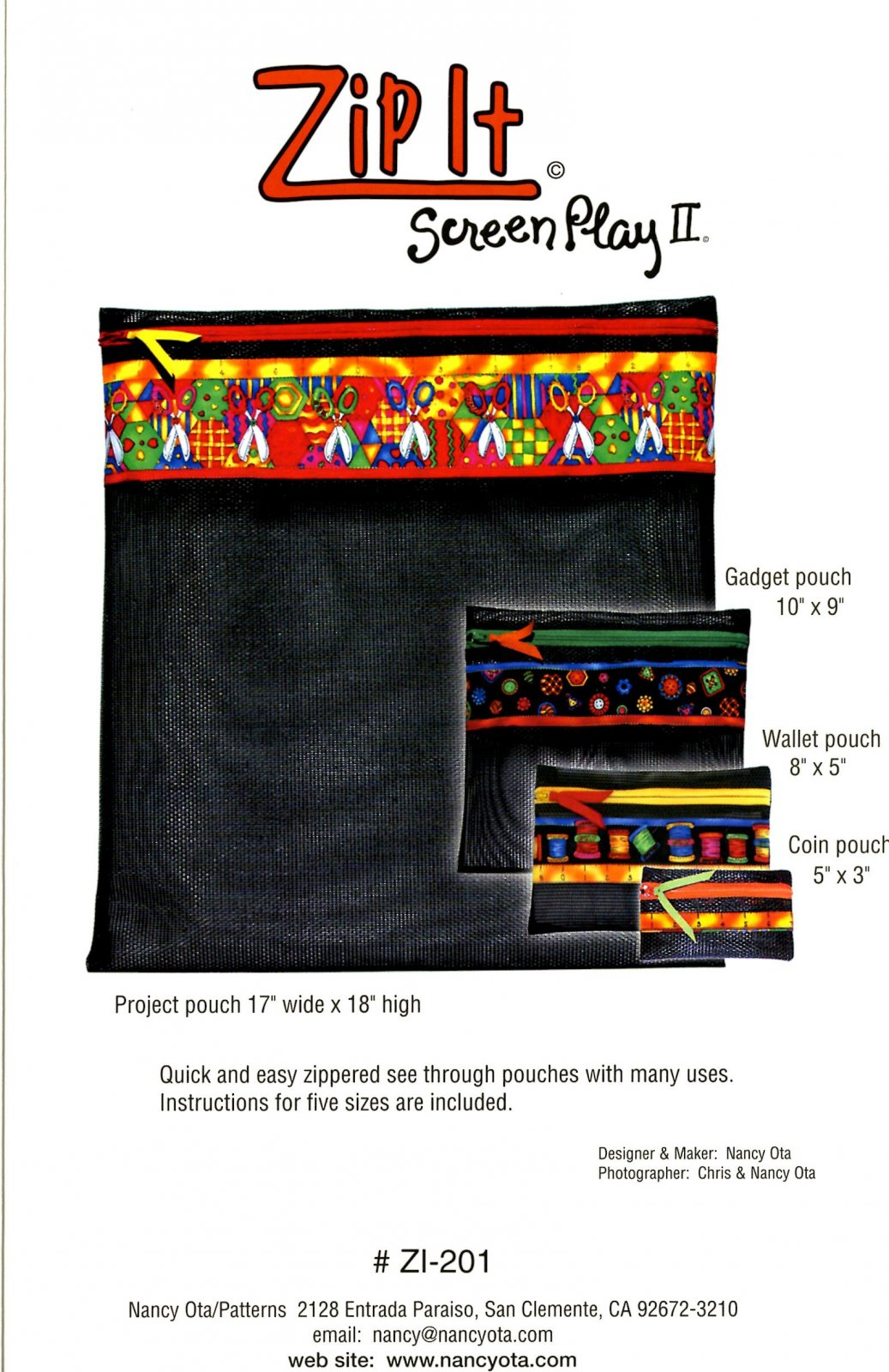 Zip It Pouches (Screen Play 2)