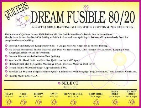 Dream Fusible 80/20 60 Bolt