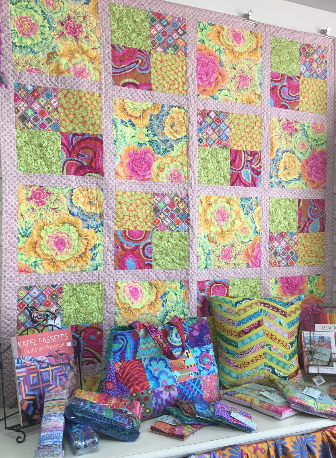 Cabbage Flower Quilt Kit