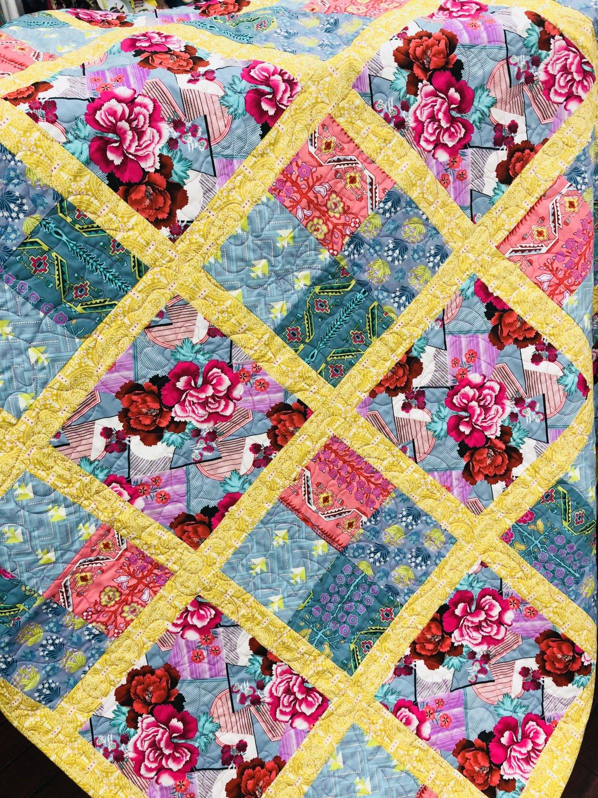 Cabbage Flower Quilt Pattern