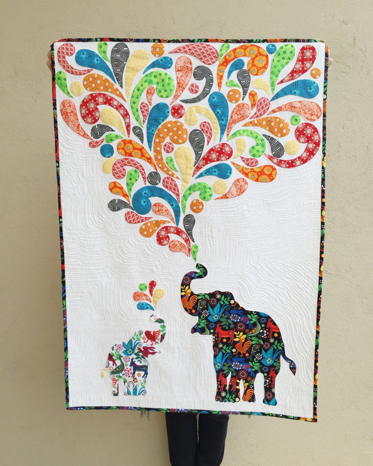 Elephant Song Quilt Kit
