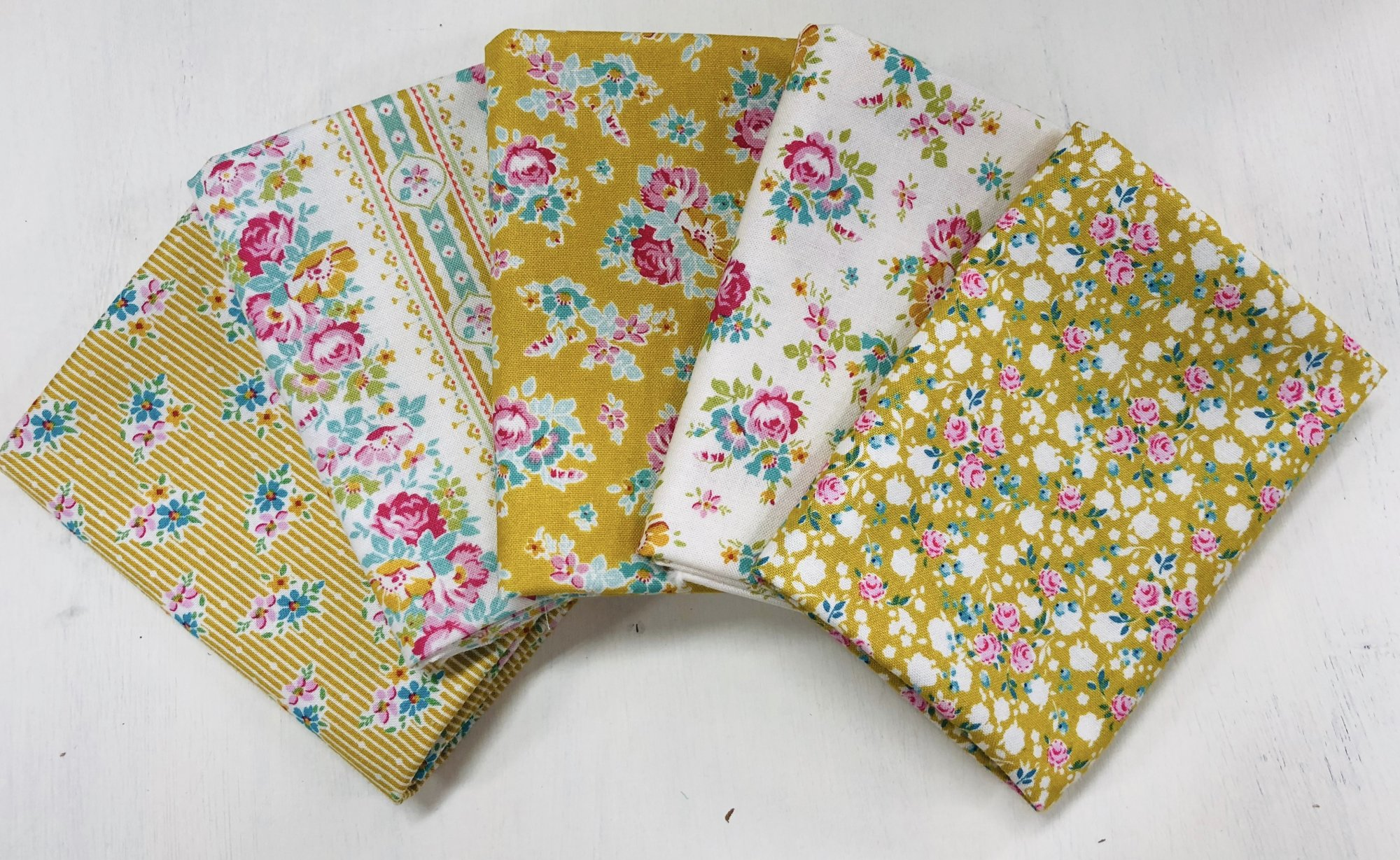 Tilda Apple Butter Mustards Fat Quarter Bundle