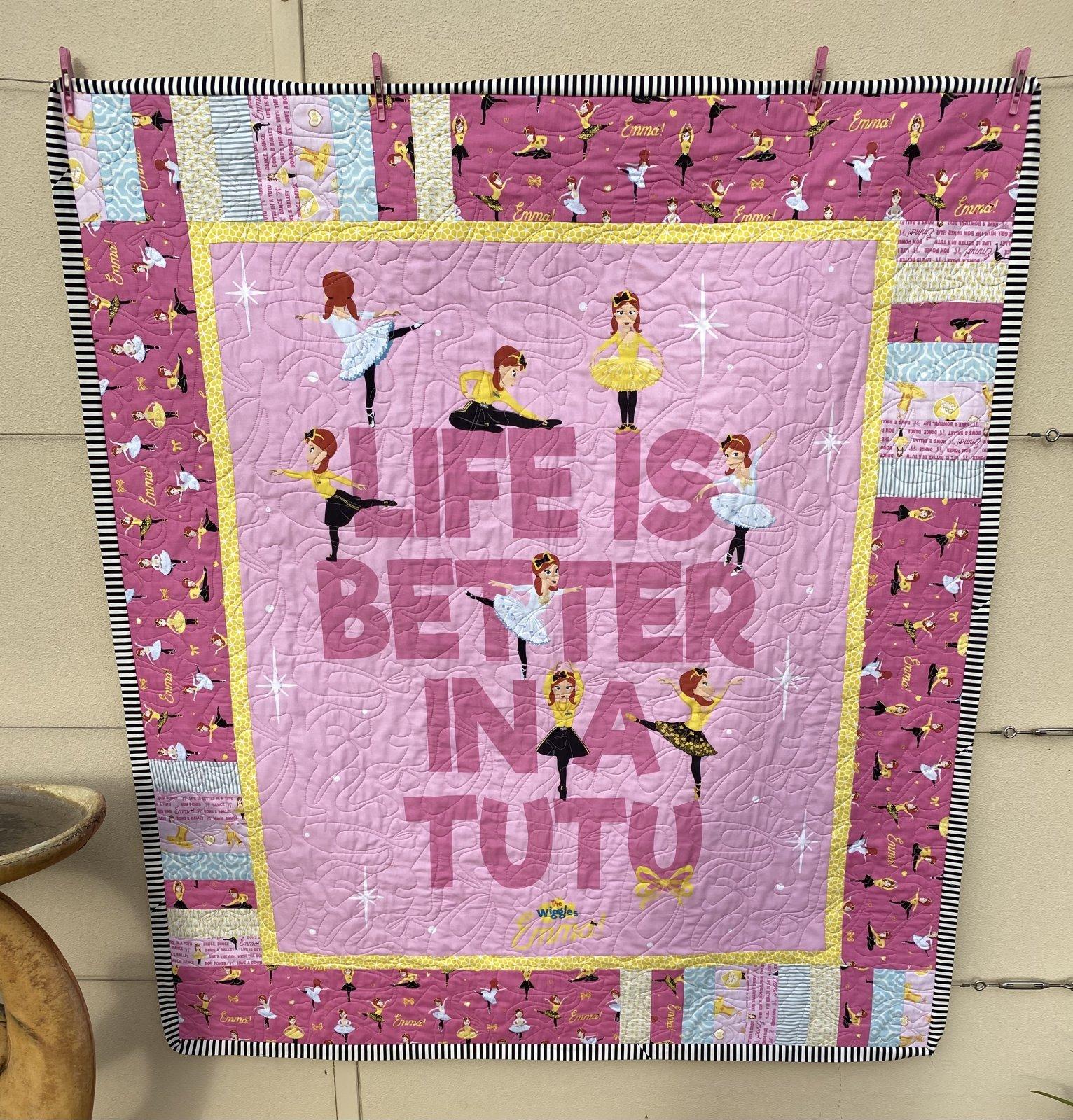 Emma in a Tutu Quilt Kit