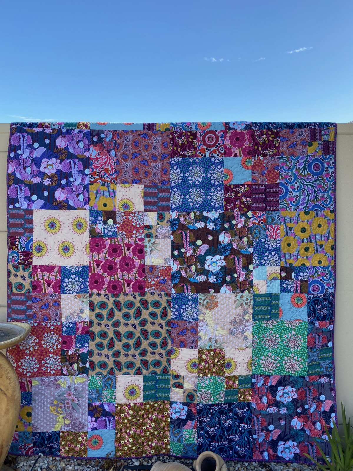 Rainbow Blur Quilt Kit
