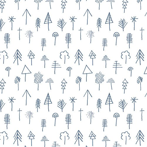 Lagom Stick Forest Outlined
