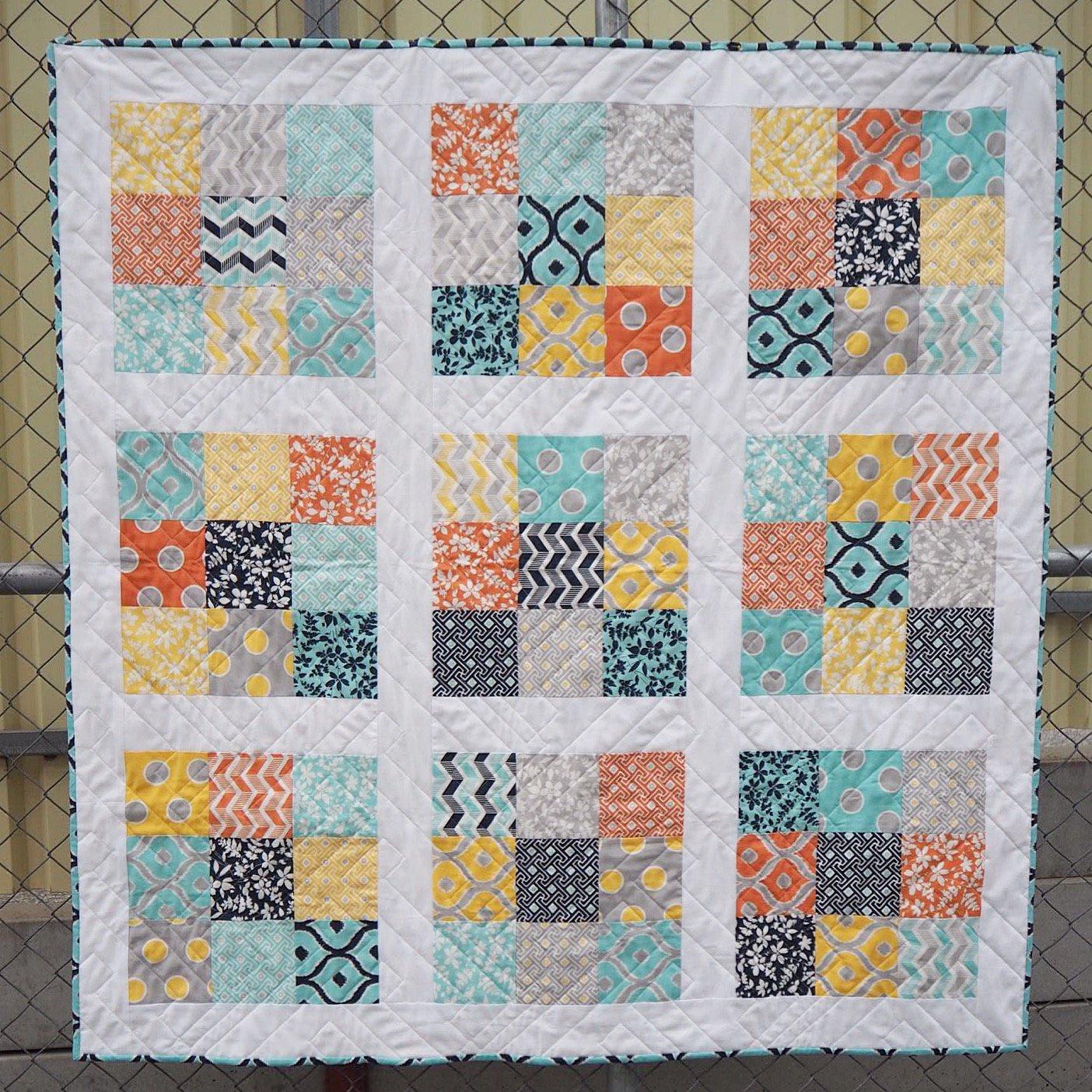 Nine Patch Starter Quilt Kit