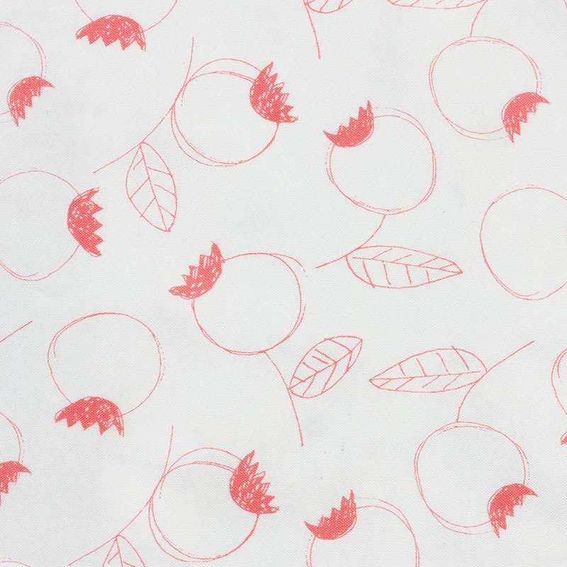 Rosehip in Coral by Umbrella Prints