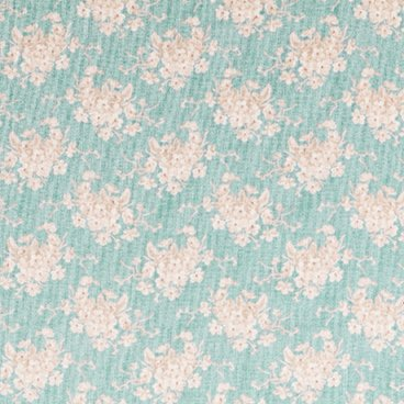 Tilda Country Escape White Flower Teal