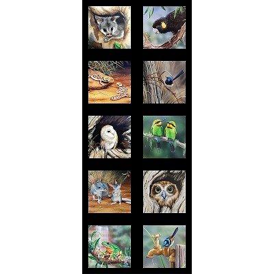 Wildlife Art Panel - Mixed Panel of 10