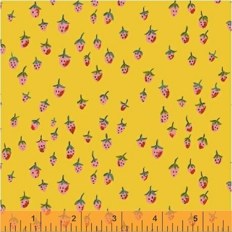 Trixie -Heather Ross - Strawberry Field in Gold