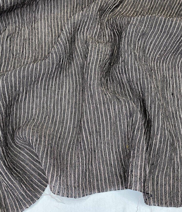 Athena Yarn Dyed Linen Stripe Mocha