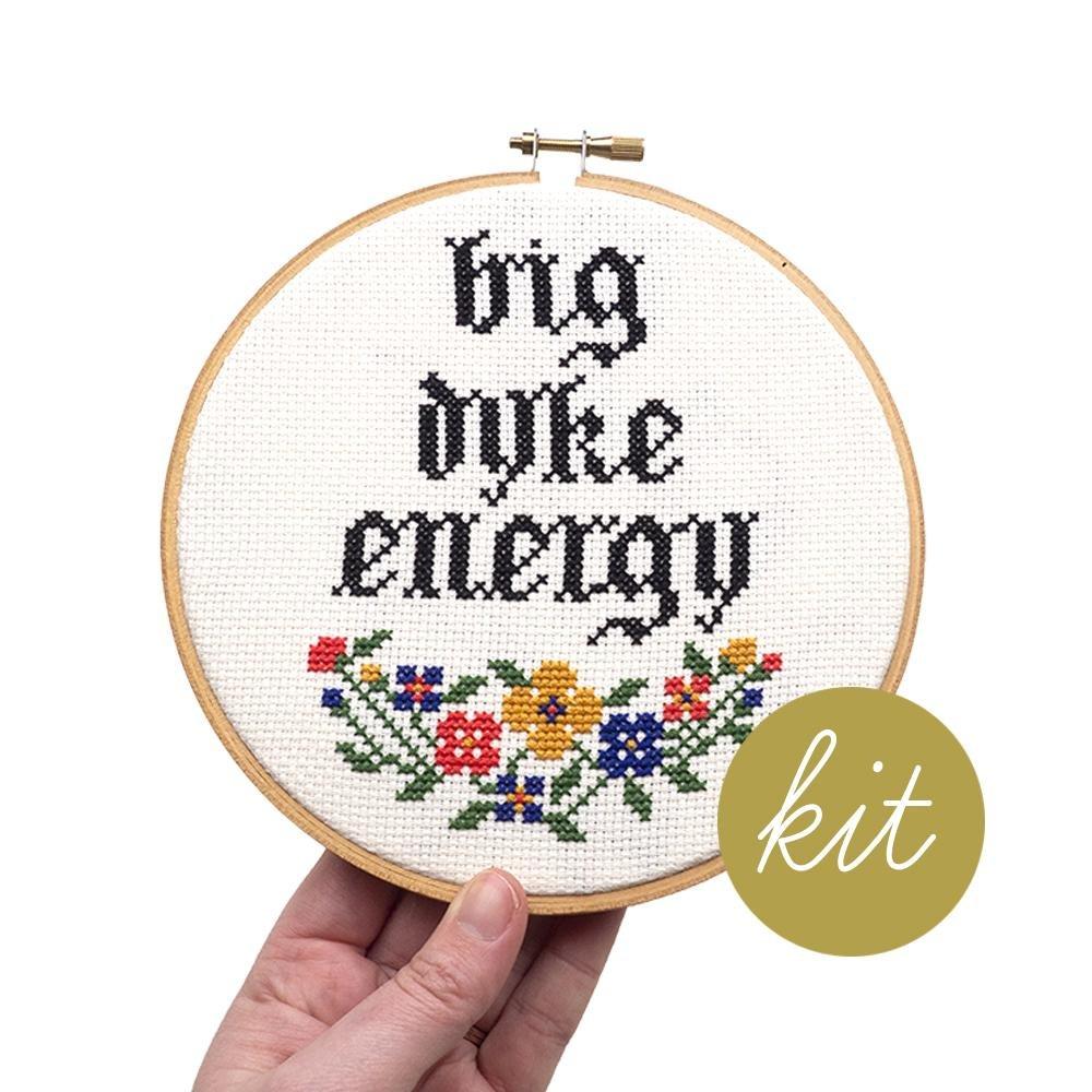 Big Dike Energy Cross Stitch Kit