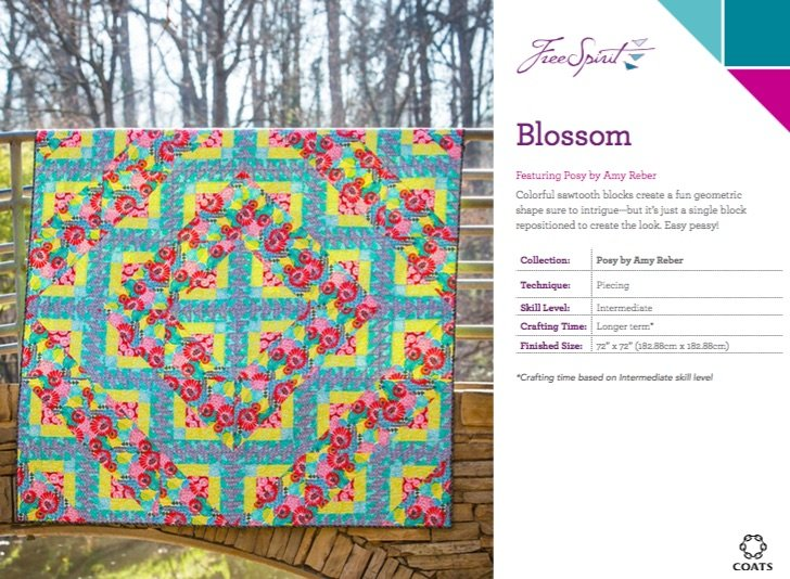 Amy Reber - Posy - BLOSSOM quilt KIT