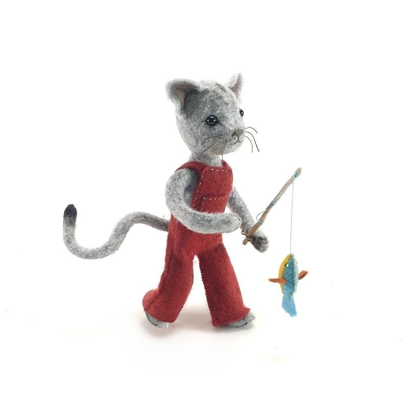 Calvin Cat Hand Stitching Kit by Thread Follower