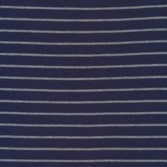 Cloud9 Organic Interlock Stretch Knit Stripes Blue/Heather Gray