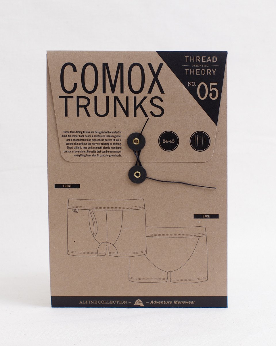 Comox Trunks Paper Pattern by Thread Theory
