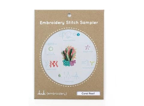 Embroidery Stitch Sampler - Coral Reef