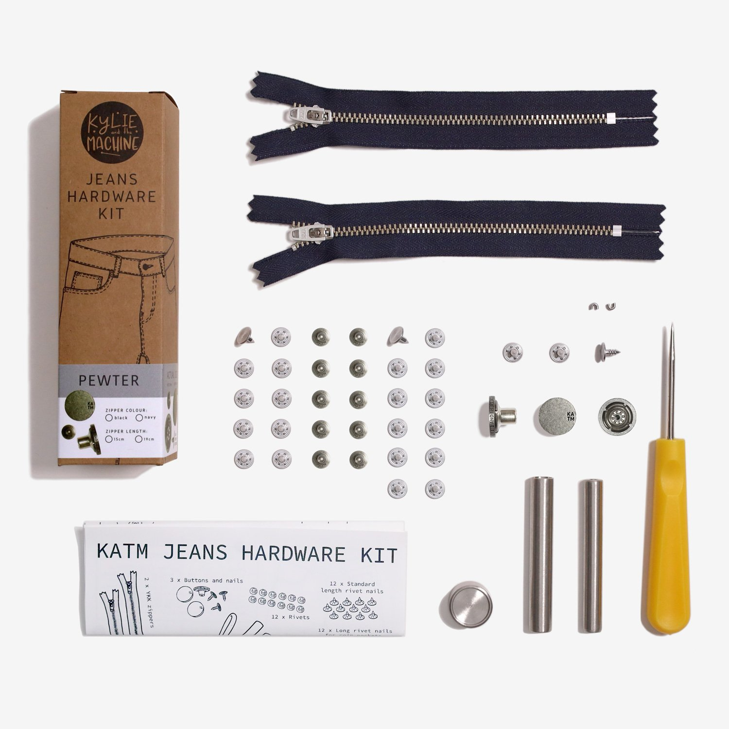 Kylie and the Machine Jeans Hardware Kit