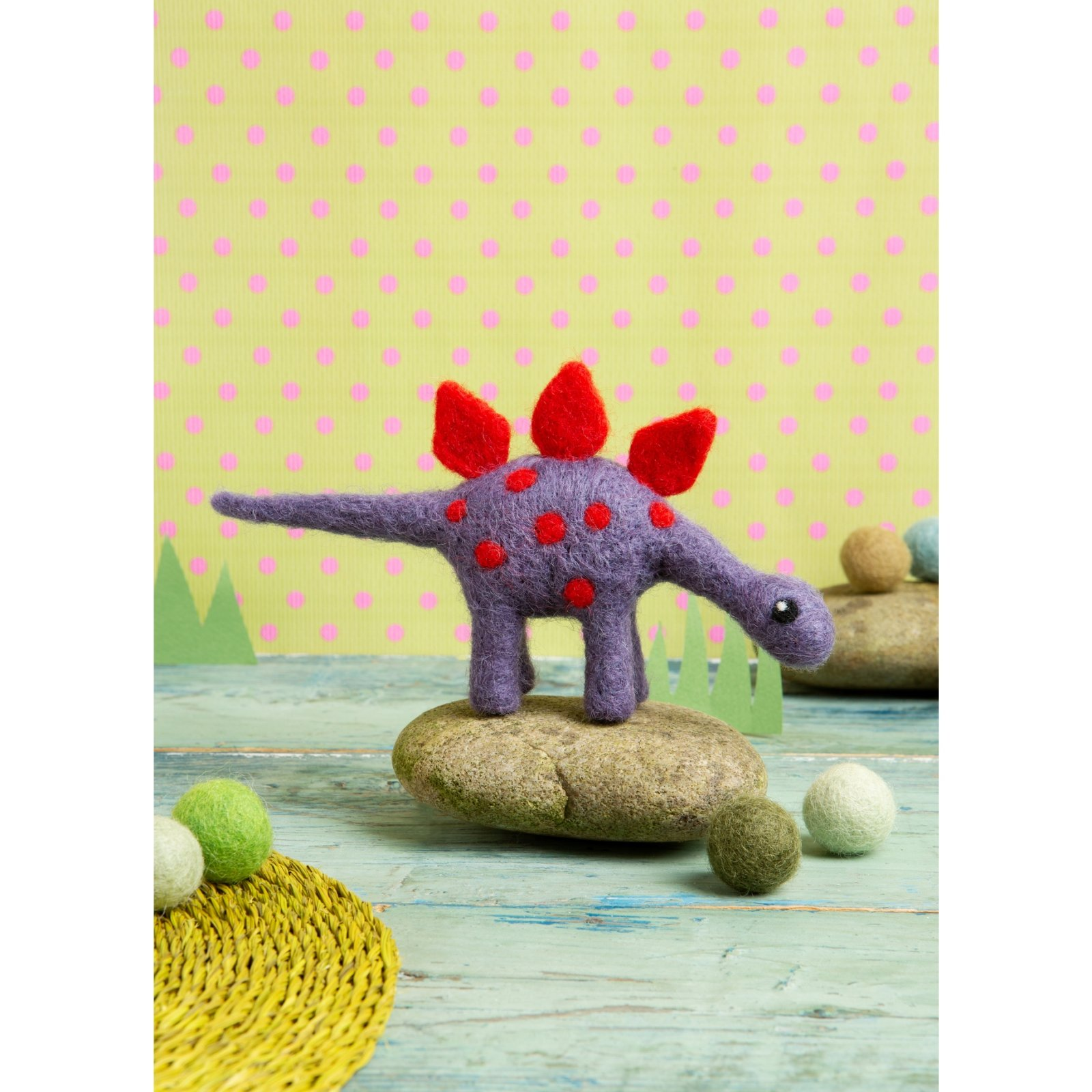 Hawthorn Handmade Stegosaurus Mini Felting Kit