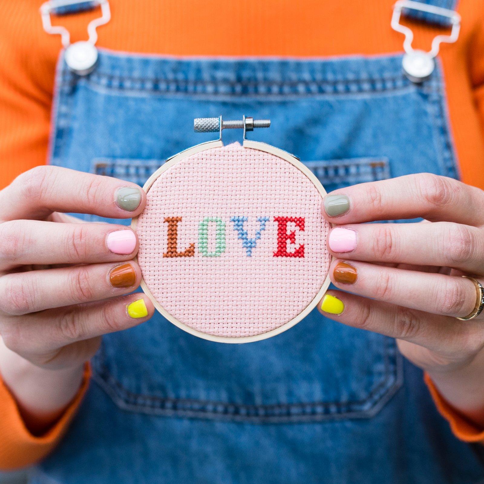 Love Cross-Stitch Kit by Cotton Clara
