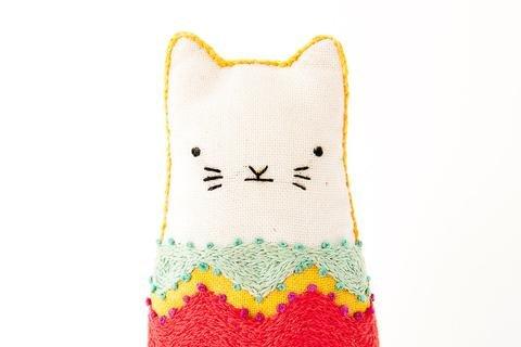 Fiesta Cat Embroidery Kit