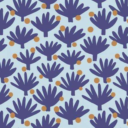 Find Me In Ibiza - Flamenco - Blue Haze Fabric