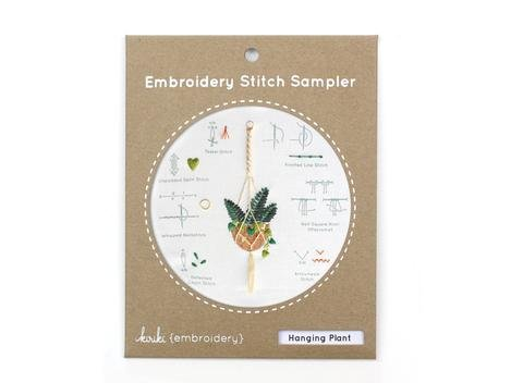 Embroidery Stitch Sampler - Hanging Plant