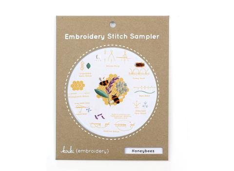 Embroidery Stitch Sampler - Honeybees