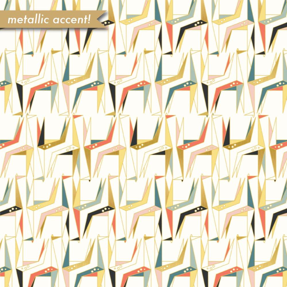 Geogami-Geo giraffe Multi-metallic gold -100% organic cotton