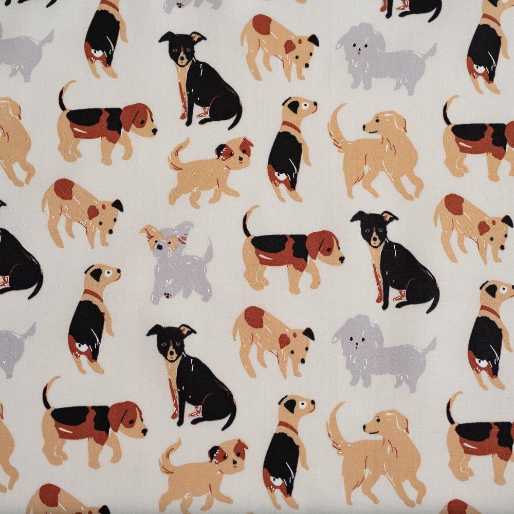 Dog Park by Jenny Ronen - 100% organic cotton poplin