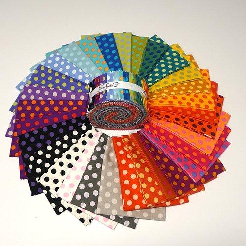 Kaffe Fassett - Spot Candy - Design Roll 2.5 (40 pcs)