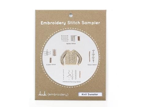 Embroidery Stitch Sampler - Knit Sweater